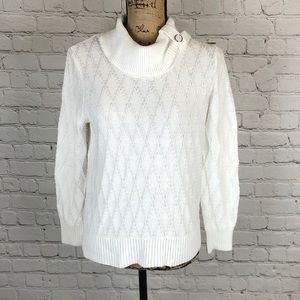 Christopher and Banks White Sweater - Petite - Med